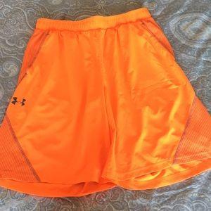 Men's orange under Armour shorts